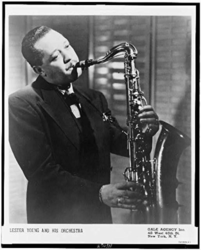 Photo: Lester Willis Young Playing Saxaphone,1909-1959,Pres,Prez,American (Willis Photograph)