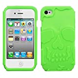 Asmyna IPHONE4AVCASKSO758 Slim and Soft Durable Protective Case for iPhone 4, 1-Pack, Retail Packaging, Green