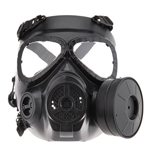 Airsoft Paintbal Dummy Tactical Gas Mask Full Face Eye Protection Skull Dummy Toxic Gas Mask With Filter Fans and Adjustable Strap for Cosplay Protection Zombie Soldiers Halloween Masquerade Resident]()