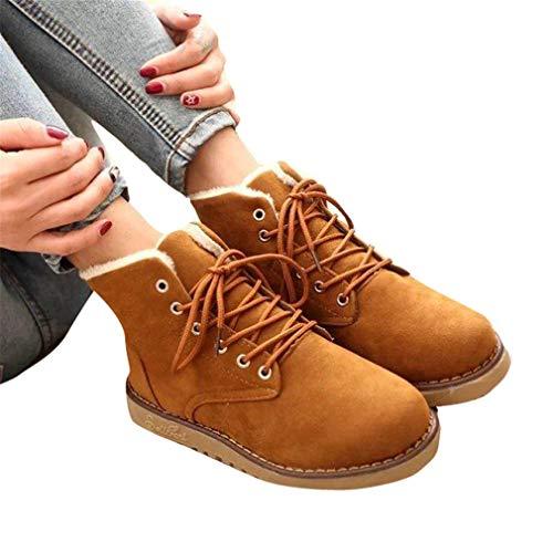 Yuch Boots Invernali Donna Hiking Yellow Walking Anjoufemme Stivaletti Da Ladies ZwZSx