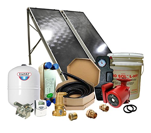 Northern Lights Group Solar Hot Water Retrofit Kit - 2 Flat Plate Collectors