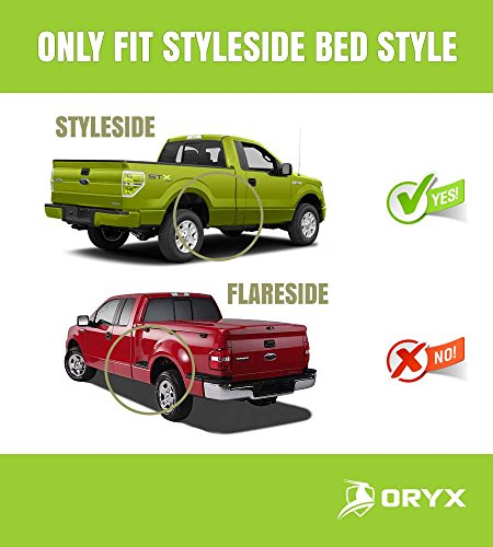 Oryx Auto Soft Roll Up Tonneau Cover Truck Bed Cover For 2015 2018 Ford F 150 8 Ft 96 In Styleside Bed Oryx