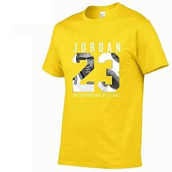 Chicago Bulls #23 Michael Jordan Hombre Camiseta, Baloncesto Manga Corta Deportes T shirt Top