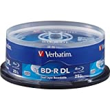 Verbatim Blu-Ray BD-R DL 98356 50GB 6X 25-Pack Spindl