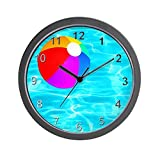 CafePress - Beach Ball in Pool - Unique Decorative 10' Wall Clock