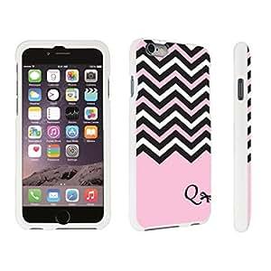 DuroCase ? Apple iPhone 6 - 4.7 inch Hard Case White - (Black Pink White Chevron Q)
