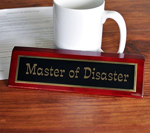 Master of Disaster Desk Plate   2 x 8 Desk Plate