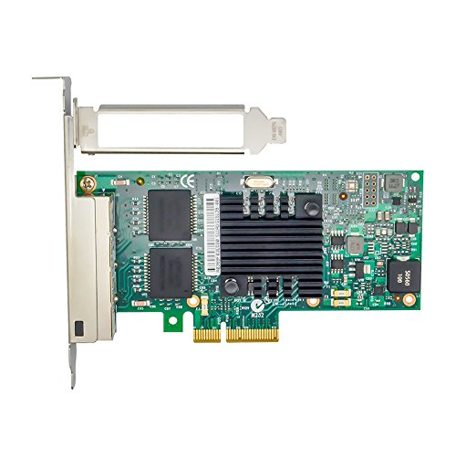 Jeirdus with Intel I350AM2 Chipset I350-T4 PCI-E X4 Quad RJ-45 Ethernet Network Card Adapter Controller NIC 10/100/1000Mbps