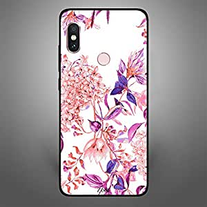Xiaomi Redmi Note 5 Pro Pink purple flower pattern