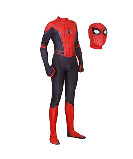 ZUOZHE Superhéroe Niño Adulto Spiderman Homecoming Halloween ...