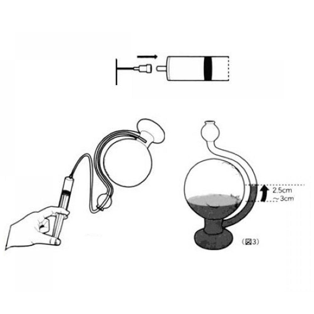 Novedad Gadget forma de globo de cristal Bar/ómetro Pron/óstico detecci/ón w//Water