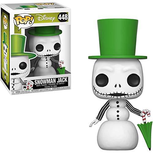Snowman Jack: The Nightmare Before Christmas x Funko POP! Disney Vinyl Figure & 1 PET Plastic Graphical Protector Bundle [#448 / 32836 - B]