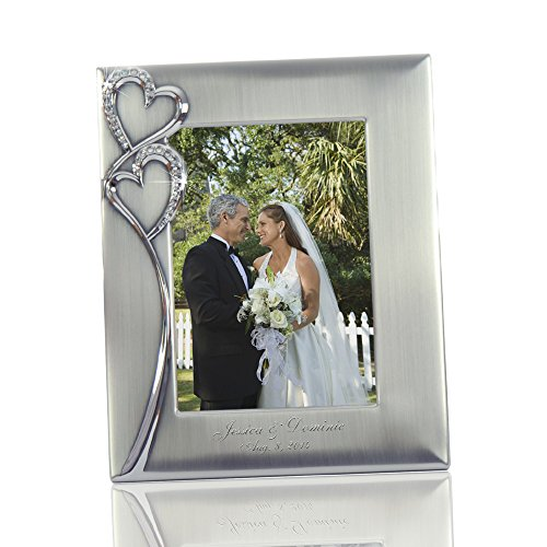 Thanh 39 Personalized Gifts -Silver Photo Frame w. Crystal Hearts