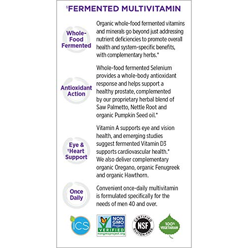 New Chapter Every Man's One Daily 40+, Men's Multivitamin Fermented with Probiotics + Saw Palmetto + B Vitamins + Vitamin D3 + Organic Non-GMO Ingredients - 96 ct (Packaging May Vary) by New Chapter (Image #10)