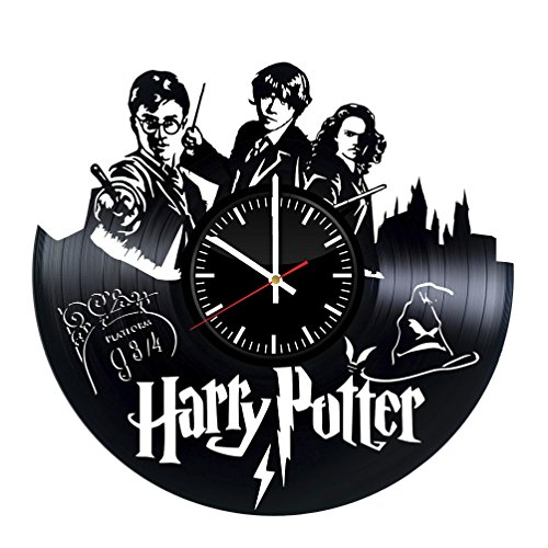 Harry Potter Vinyl Wall Clock - Magic Film Original Present For Harry Potter Fans - Wall Art Room Decor Handmade Decoration Party Supplies Theme Birthday Gift - Vintage - Potter Make Harry Your Robe Own