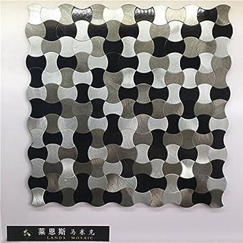 Metall Mosaik Fliesen Aufkleber, Hochwertige Fliesen Für Wand, Aluminium  Küche
