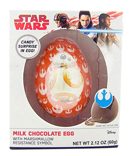 Star Wars Milk Chocolate Candy with Marshmallow Resistance Symbol, 2.12 -