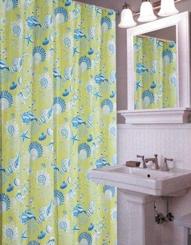 72x72quot Shower Curtain Green Shells