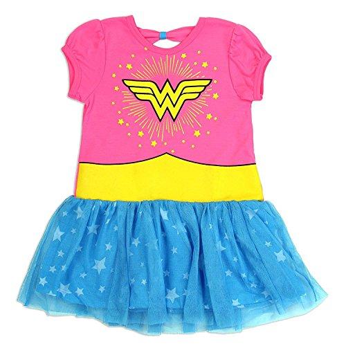 Wonder Woman DC Comics Little Girls Fashion Dress, Pink (5) for $<!--$20.95-->