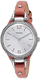 Fossil Women's ES3468 Georgia Analog Display Analog Quartz Pink Watch
