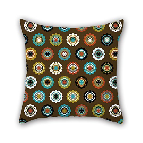MaSoyy Flower Throw Cushion Covers 20 X 20 Inches / 50 By 50 Cm Gift Or Decor For Chair,outdoor,adults,festival,home Office,club - 2 Sides