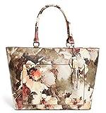 GUESS Women's Nido Large Floral Saffiano Tote Bang Handbag