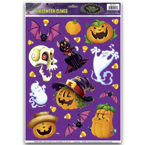 halloween character clings party accessory 1 count 25sh - Halloween Window Clings