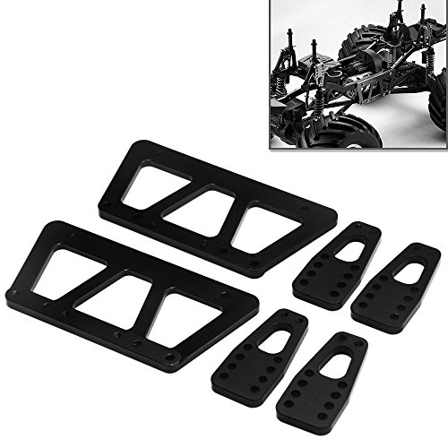 Set Chassis Rc - Alloy Chassis Lift Plate Set Kit for 1/10 RC Axial SCX10 Model Car Part (Black)