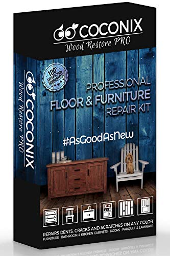 (Coconix Floor and Furniture Repair Kit - Restorer of Your Wooden Table, Cabinet, Veneer, Door and Nightstand - Super Easy Instructions Matches Any Color - Restore Any Wood, Cherry, Walnut, Hardwood)