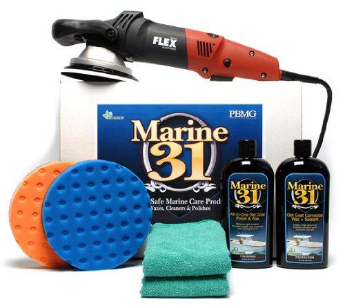 FLEX XC3401 Marine 31 Boat Polish & Wax Kit