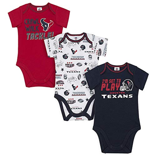 Gerber Knit Crib Sheet ~ Snug Fitting Soft Jersey Knit (Houston Texans Sheet Set)