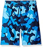 Kanu Surf Little Boys' Camo Swim Trunk, Navy, Medium (5/6)