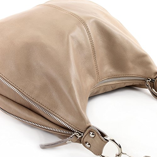 en sac sac bandoulière femme ® t56 Braunbeige sac cuir bandoulière pour nappa en bandoulière Modamoda à cuir de ital t47Fw4q0