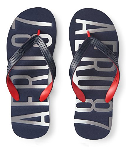 Aeropostale Men's Aero Stamped Flip-Flop Medium - Men Aero