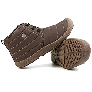 JIASUQI Lightweight Flat Sports Boots Ankle Shoes For Men Brown 11 M US