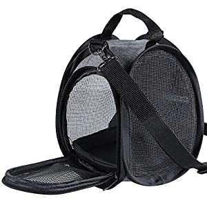 Petsfit Portable Small Animal Carrier,Airline Approved Soft-Sided Pet Carrier with Breathable Mesh Window and Sturdy…
