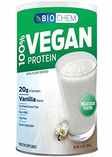 Biochem 100% Vegan Protein Powder, Vanilla, 11.4-Ounce by Biochem Sports (Biochem Vegan Protein Powder)