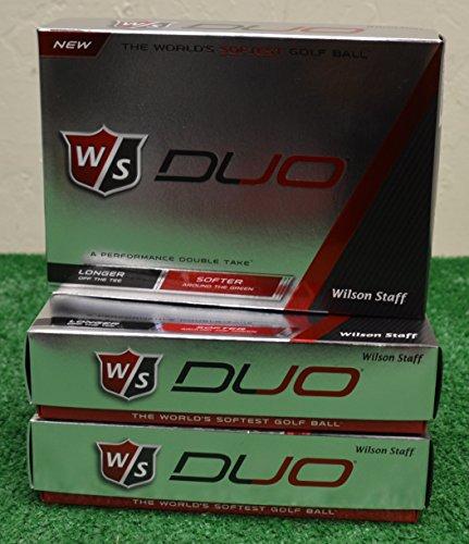 3 Dozen Wilson Staff Duo White Golf Balls by Balls