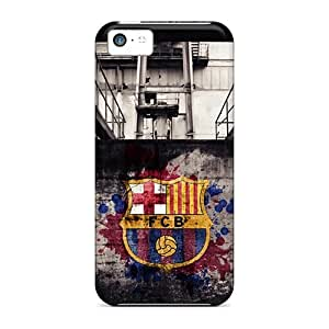 Luoxunmobile333 Iphone 5c Hybrid Cases Covers Bumper Fc Barcelona Sports