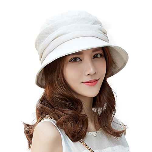 Cotton Chin Cord - Siggi Bucket Boonie Cord Brim Hat Fishing Hiking Cap Tencel Cotton for Women UPF50+ Grey