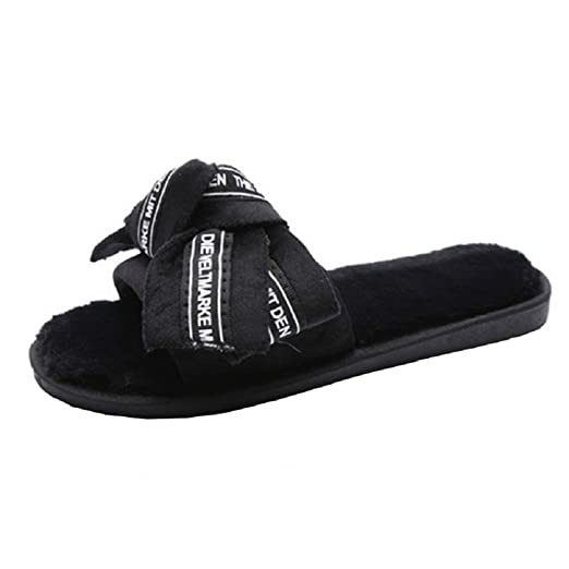 aa581d132312e Photno Women Flats Sandals Fashion Bow Tie Slides Slippers Summer Beach  Shoes Black