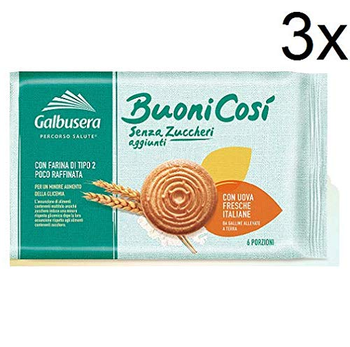 3X Galbusera Buoni così Frollino Classico Butter Biscuit Classic Snack 330g