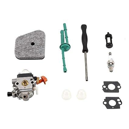 gototop Kit de carburador con junta tubo Bujía Para ...