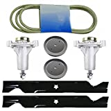 8TEN Deck Belt Blade Spindle Kit Husqvarna 2246LS 2346XLS YTA1946 YTA22V46 YTH20K46 YTH2246TDR YTH22V46 YTH18K46 YTH22V46XLS