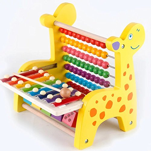 Heo Wooden Multifuctional Abacus Educational Counting And Math Learning Toys With Slide Out Xylophone For Kids (Xylophone) -