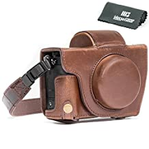 "MegaGear ""Ever Ready"" Camera Case, Bag for Canon PowerShot G5 X G5X Digital Camera (Dark Brown, PU Leather)"