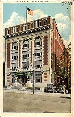 elks club scranton pennsylvania original vintage postcard entertainment collectibles. Black Bedroom Furniture Sets. Home Design Ideas