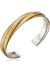 """Anna Beck Designs """"Timor"""" 18k Gold-Plated Twisted Skinny Cuff Bracelet"""