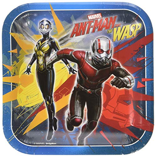 American Greetings Ant-Man Wasp Paper 8-Count, Dessert Plates