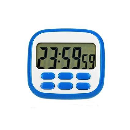b6c09d357b469d TiMER- Kitchen 24 Ore di apprendimento promemoria Conto alla rovescia cronometro  cronometro Grande Schermo Magnete Orologio (Colore : Blu): Amazon.it: Casa  ...